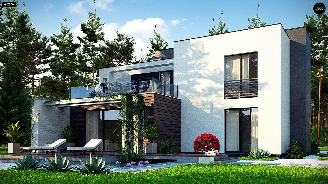 Двухэтажный дом в стиле минимализм - вариант проекта ZR 17 3