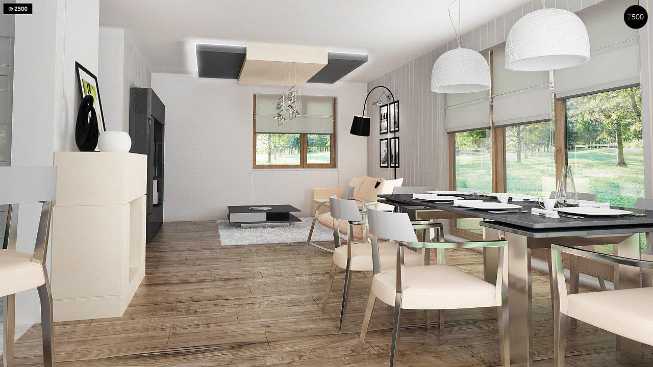 Проект функционального уютного дома с мансардными окнами и оригинальной отделкой фасадов. 9