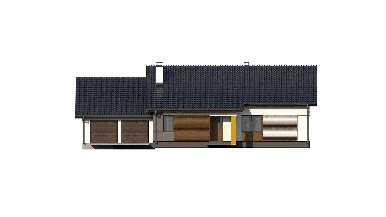 Версия проекта Z287 c большим гаражным помещением. 13