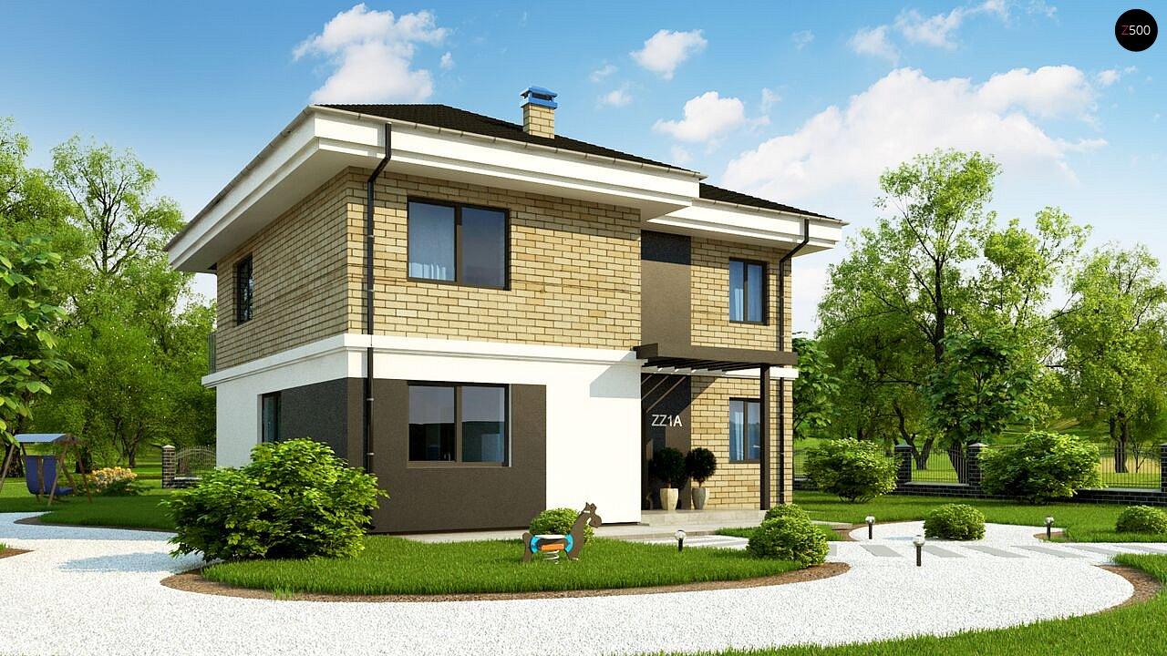 Двухэтажный дом с современным дизайном экстерьера и удобным интерьером - фото 3