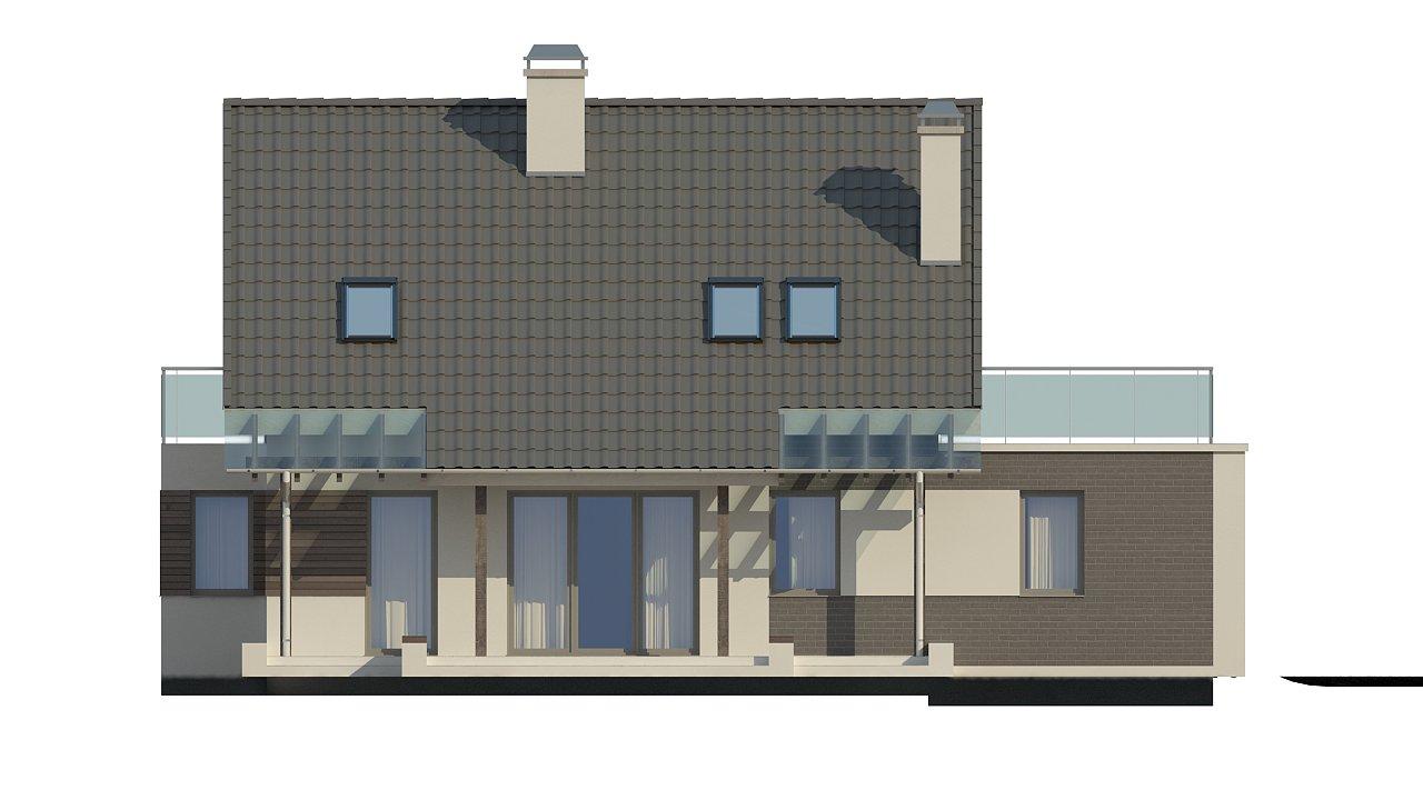 Удобный дом с эркером, балконом и террасой над гаражом. 5