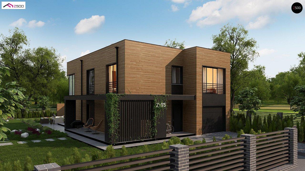Проект современного двухэтажного дома с вторым светом и большой площадью остекления. - фото 6