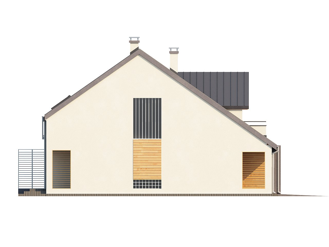 Проект стильного, функционального и недорогого двухсемейного дома. 23