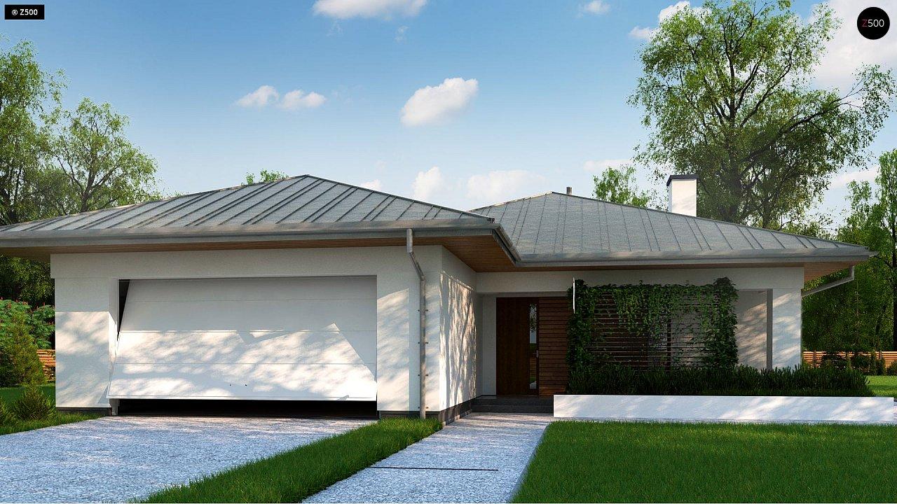 Одноэтажный дом с гаражом на две машины - фото 2