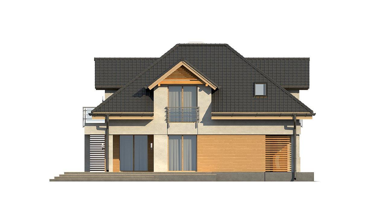 Комфортный дом привлекательного дизайна с дополнительной комнатой над гаражом. 19