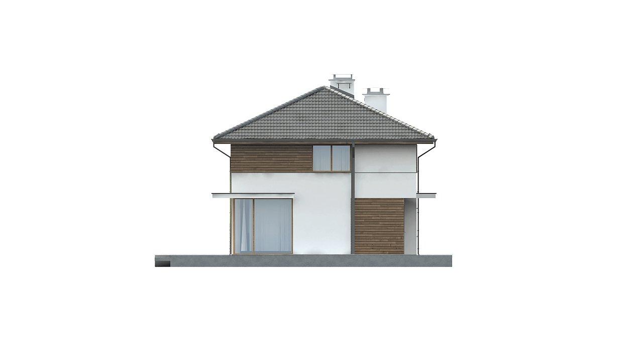 Просторный двухэтажный дом с двумя дополнительными спальнями на первом этаже. 5