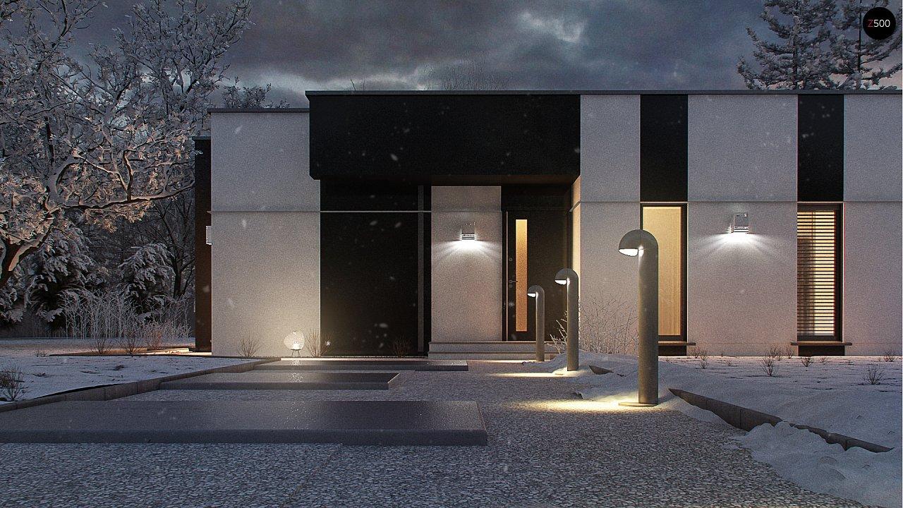 Одноэтажный комфортный дом в стиле хай-тек. 7
