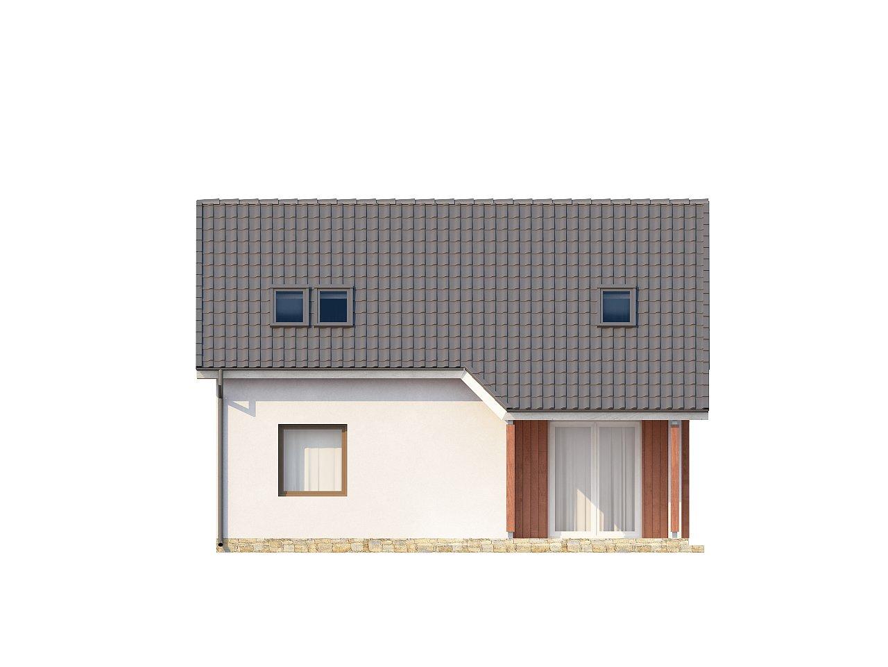 Простой и экономичный дом с мансардой и дополнительной комнатой на первом этаже. 10