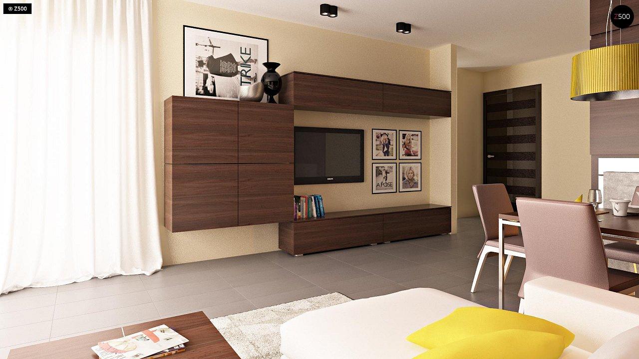 Компактные дома близнецы в современном стиле с уютным интерьером. 5