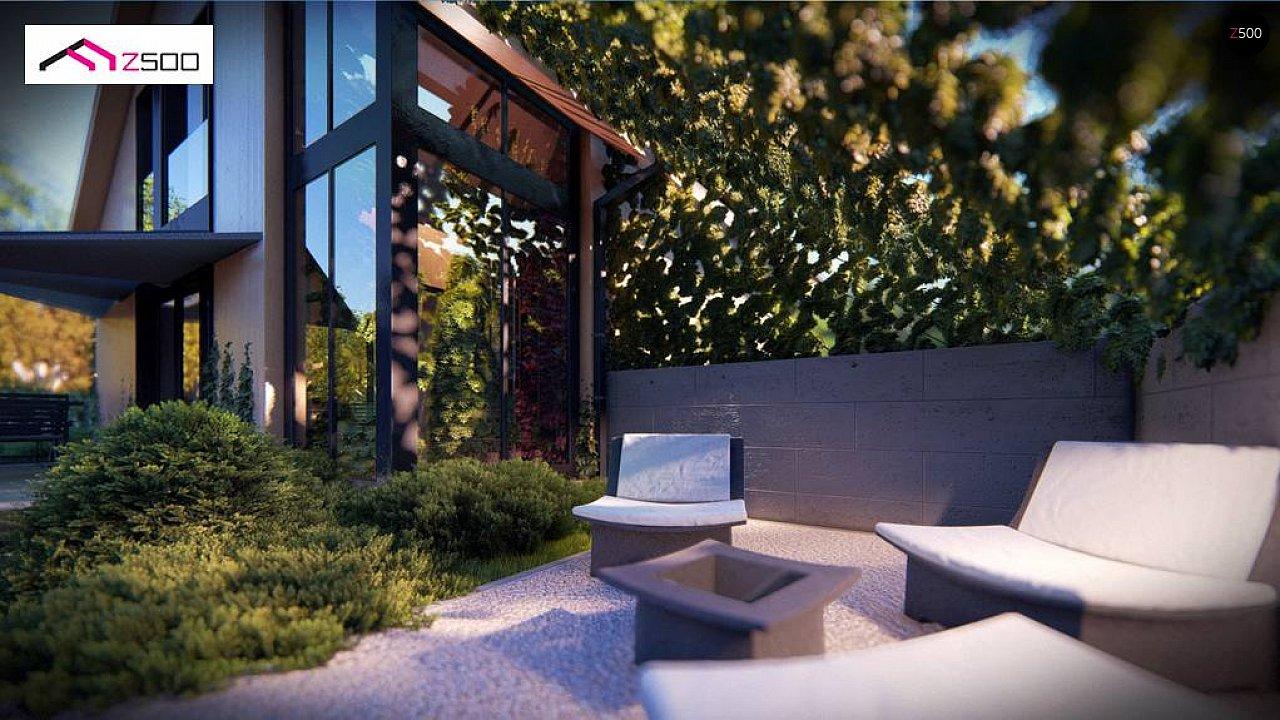 Проект просторного мансардного дома с панорамным остеклением. - фото 4