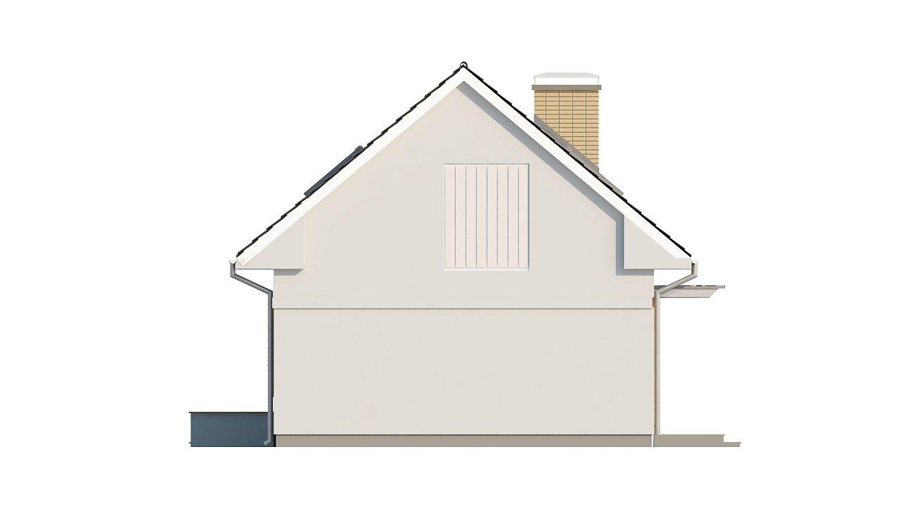 Компактный дом с дополнительной спальней на первом этаже, простой в строительстве, недорогой в эксплуатации. 25