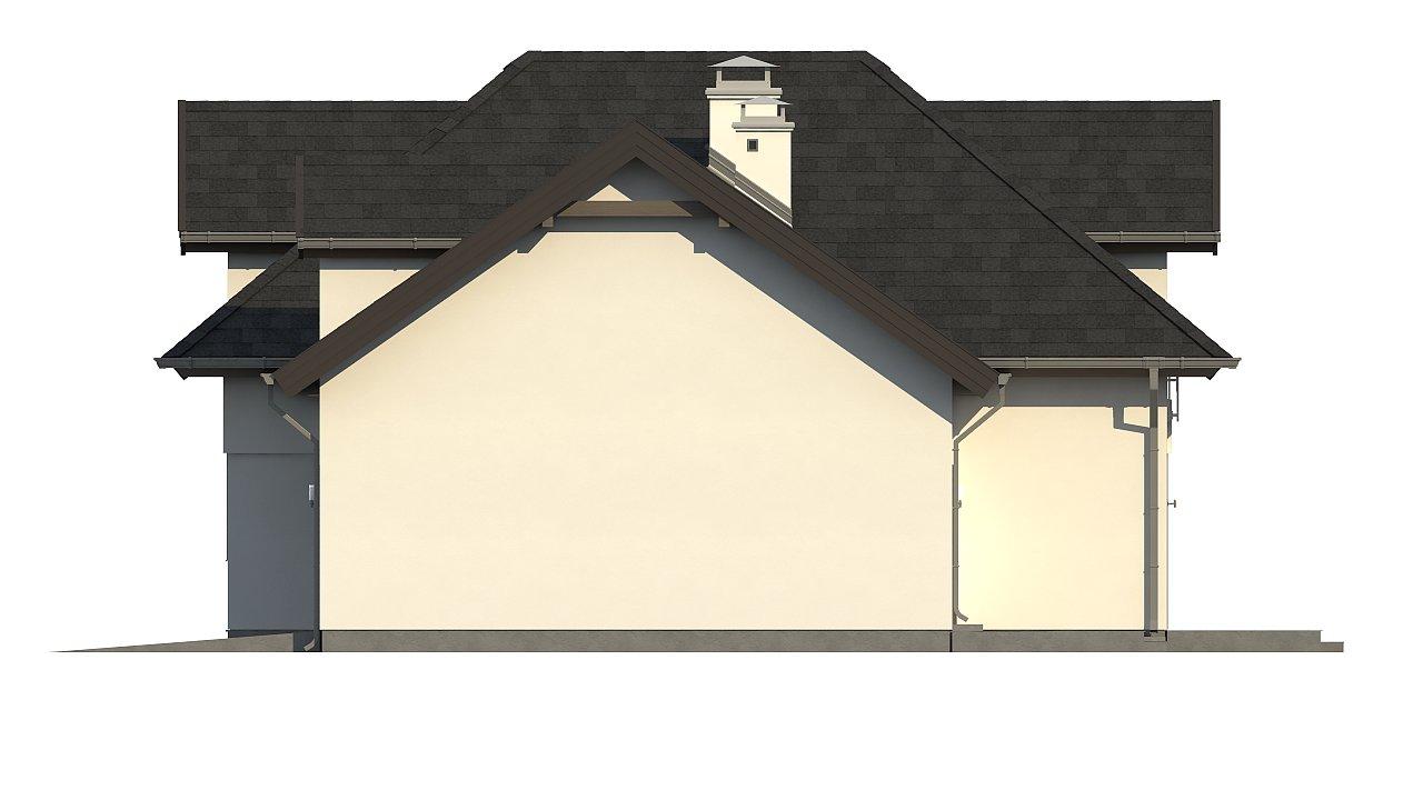 Комфортабельный дом с интересными фасадными окнами, с гаражом на два авто. 6