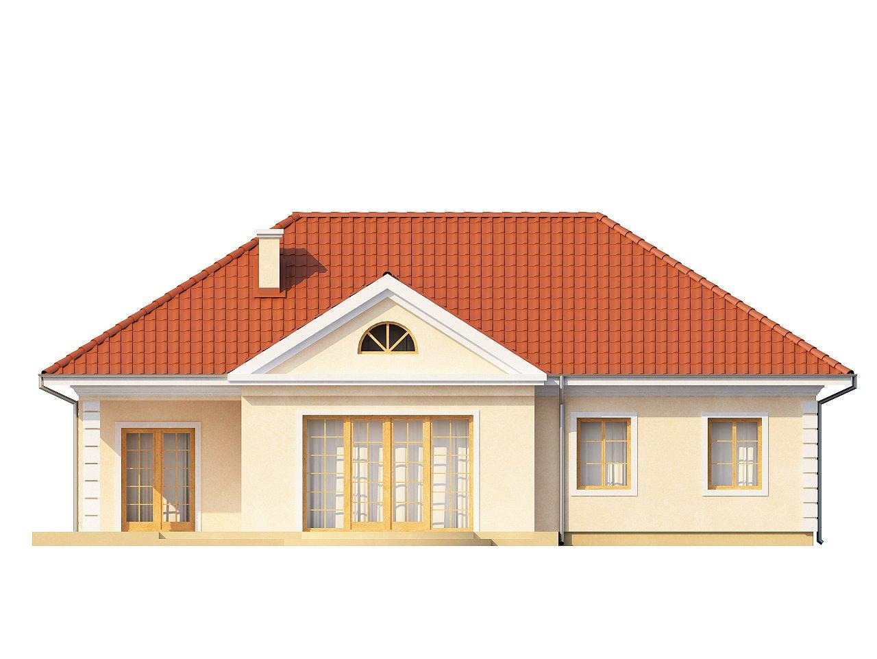 Проект в стиле дворянской усадьбы с возможностью обустройства чердачного помещения. 14