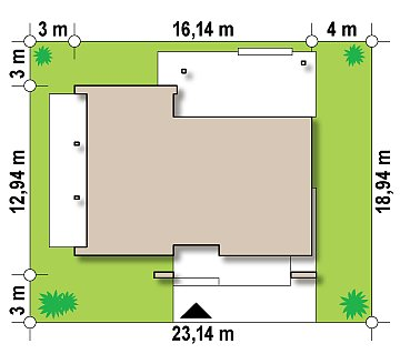 Одноэтажный дом исключительного современного дизайна. план помещений 1