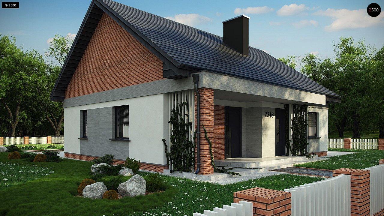 Уютный дом с двускатной кровлей и возможностью обустройства мансарды. 4
