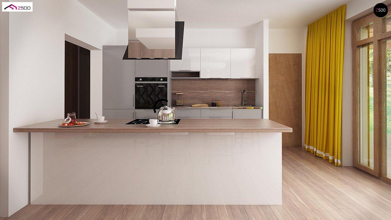 Вариант проекта Z140 с фронтальным расположением кухни. - фото 8