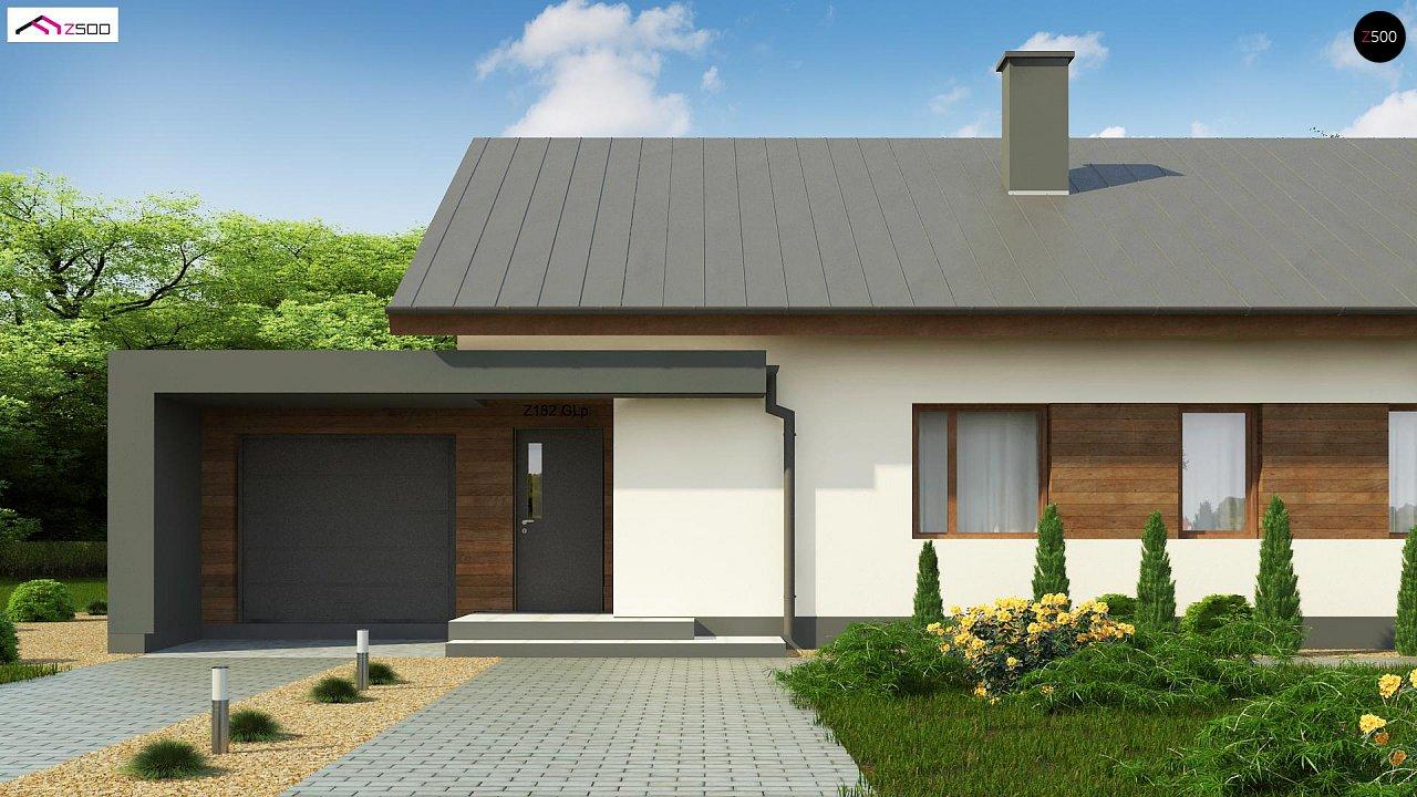 Дом, выполненный в традиционном стиле с одноуровневой планировкой. 5