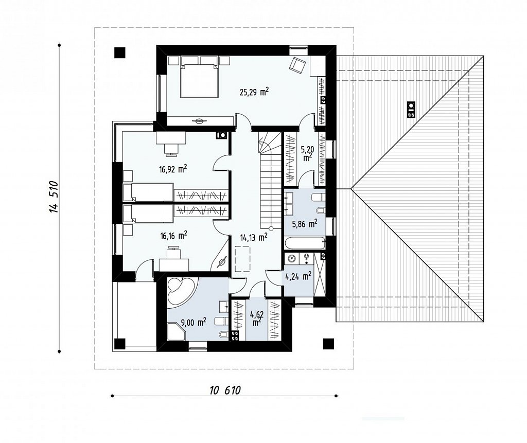 Комфортная двухэтажная усадьба с гаражом на 2 авто, с сауной на 1 этаже план помещений 2