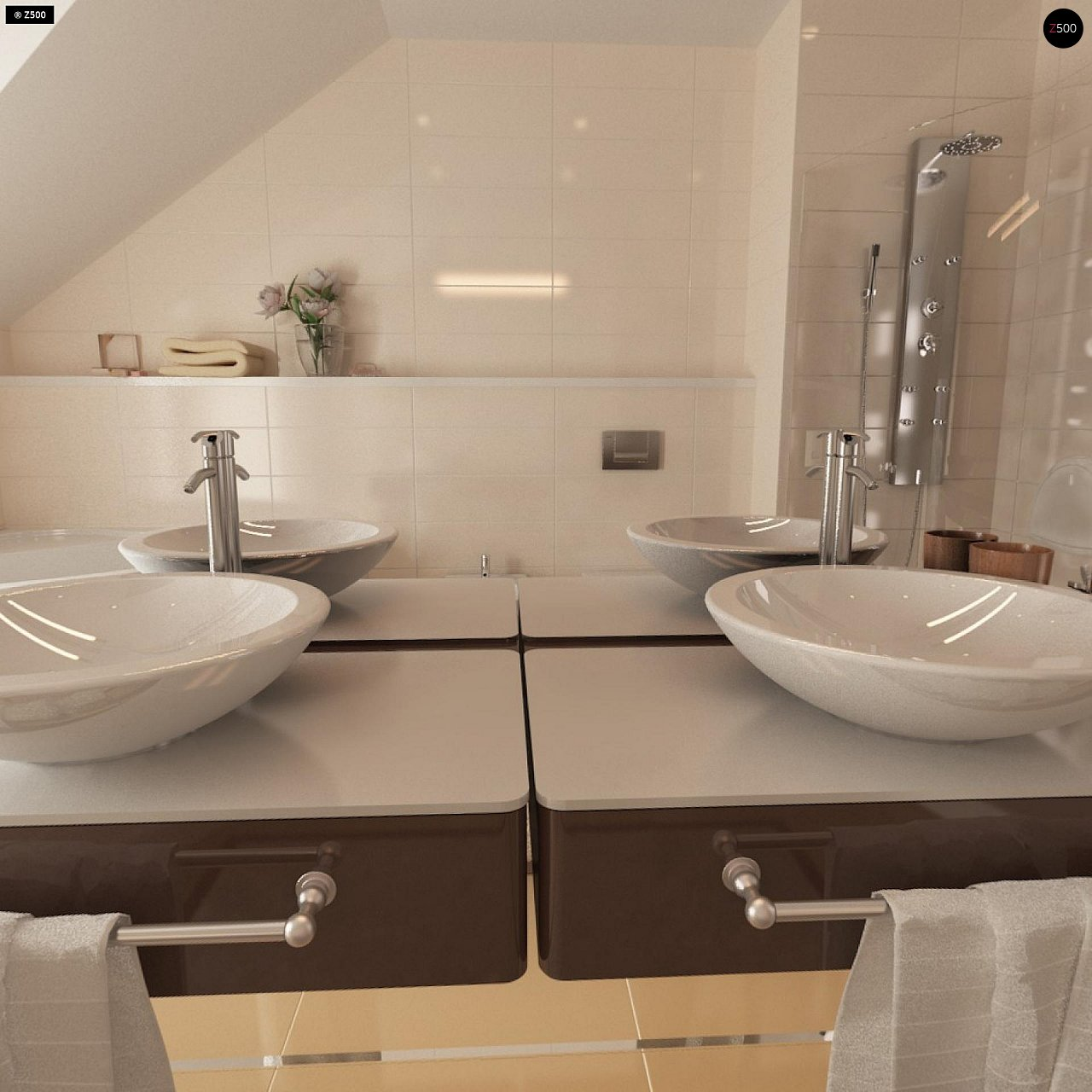 Проект стильного, функционального и недорогого двухсемейного дома. 17