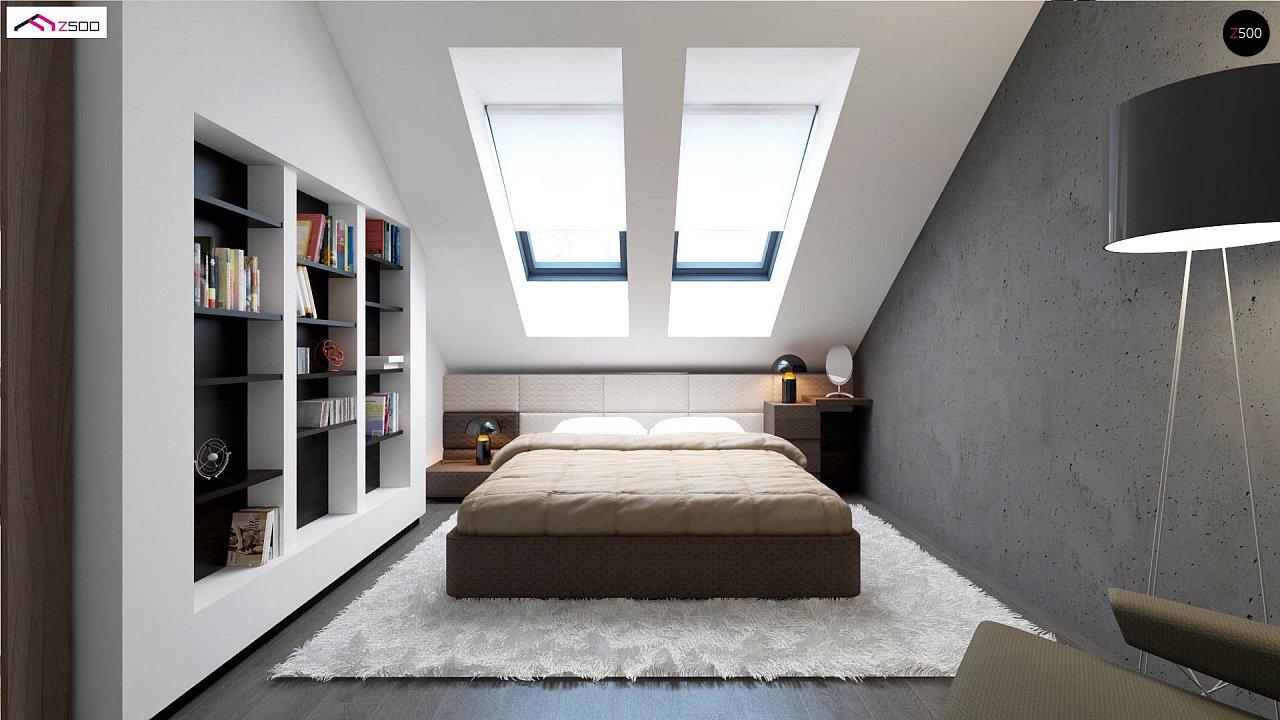 Простой и экономичный дом с мансардой и дополнительной комнатой на первом этаже. 7