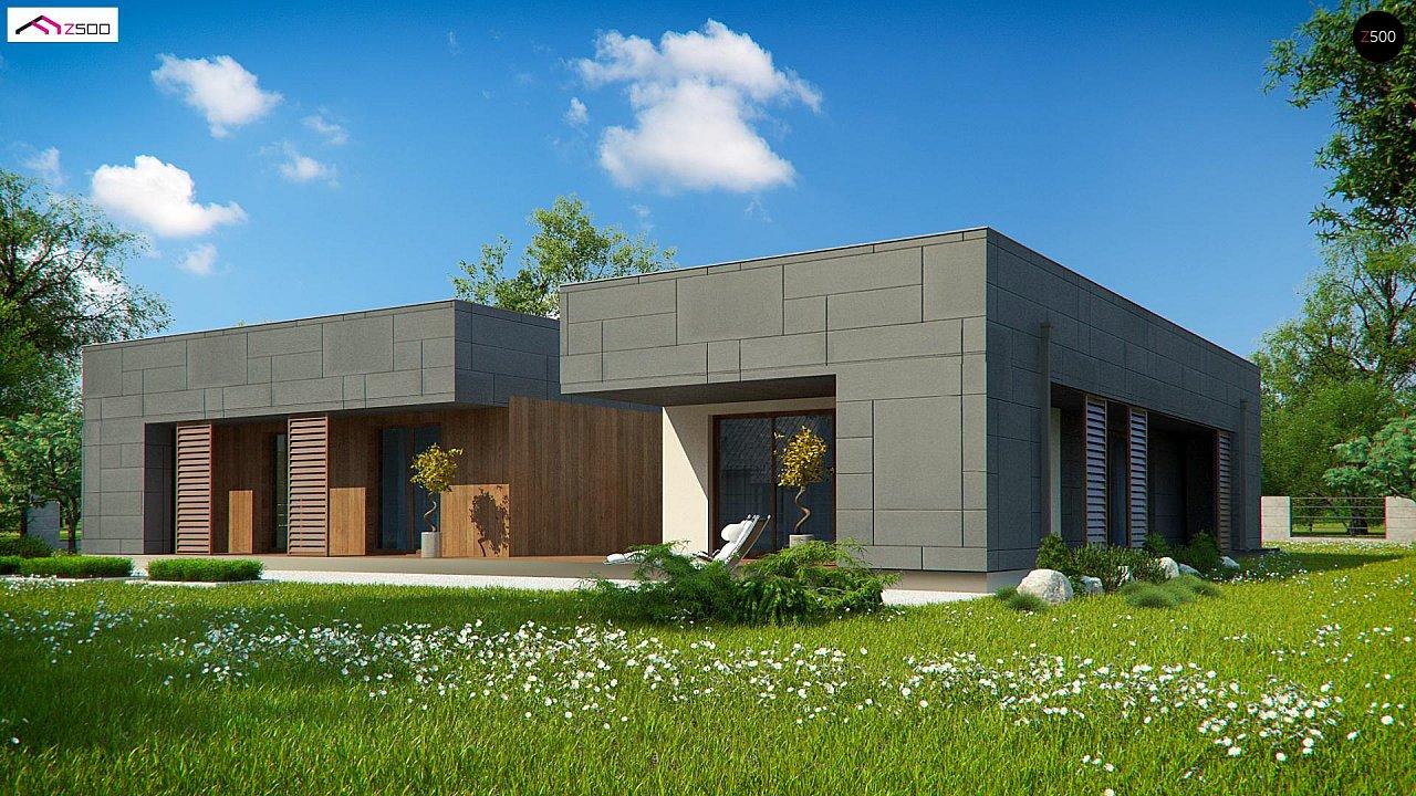 Современный односемейный одноэтажный дом с плоской крышей - фото 6