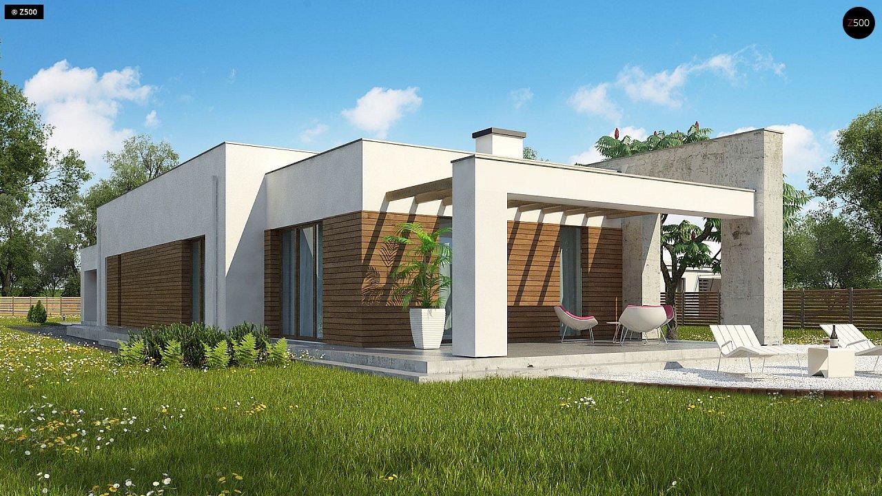 Комфортный одноэтажный дом для узкого участка. 2