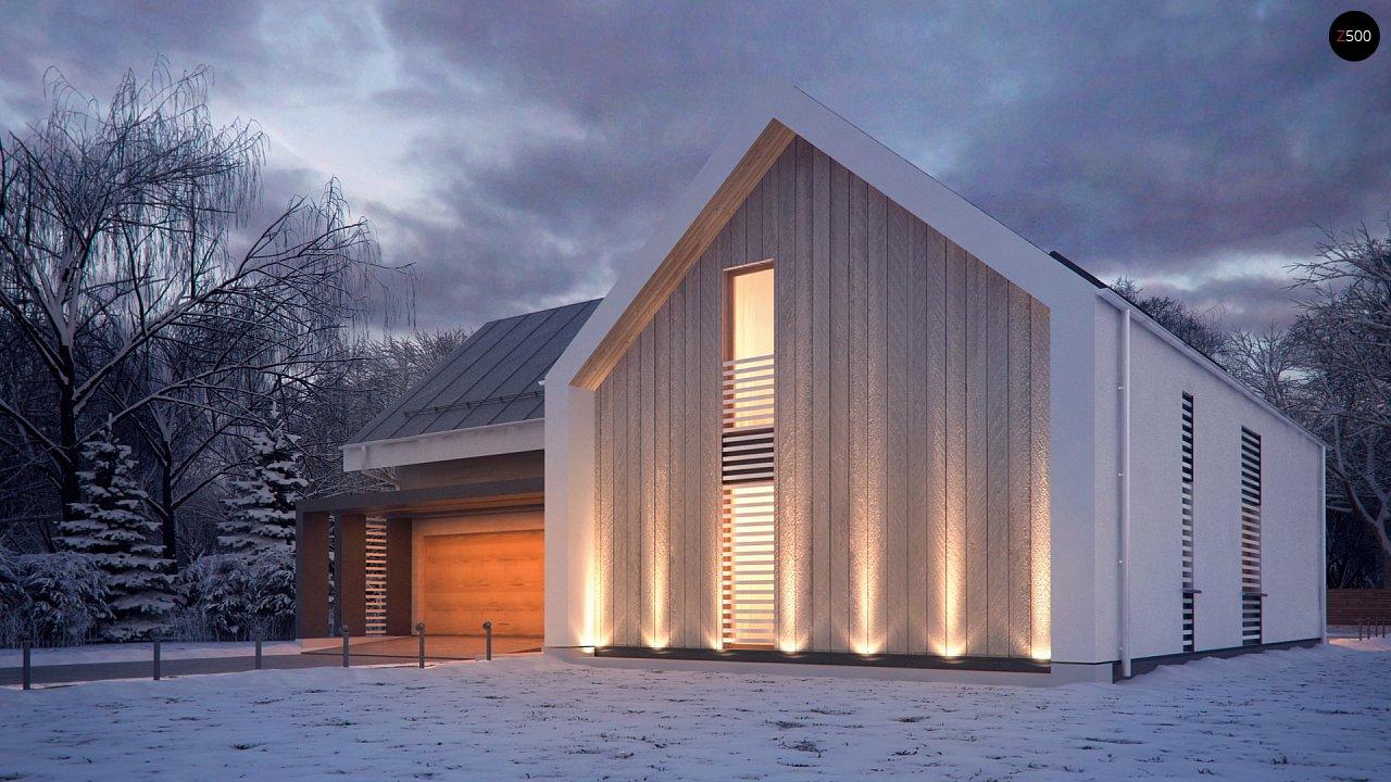 Современный мансардный дом с гаражом на две машины - фото 4