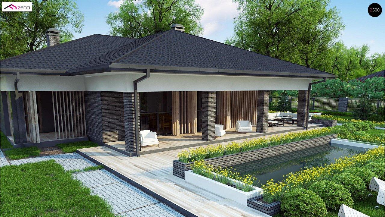 Проект стильного одноэтажного дома в традиционном стиле - фото 1