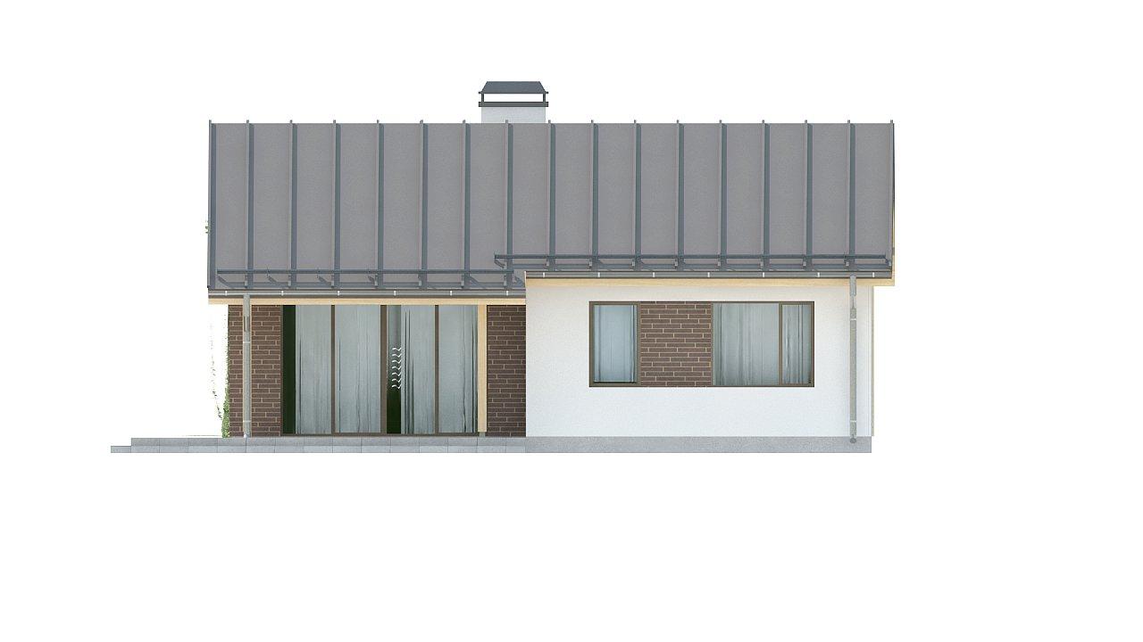 Простой и недорогой в строительстве одноэтажный дом небольшой площади. 18