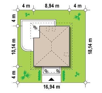 Проект практичного и уютного традиционного дома. план помещений 1