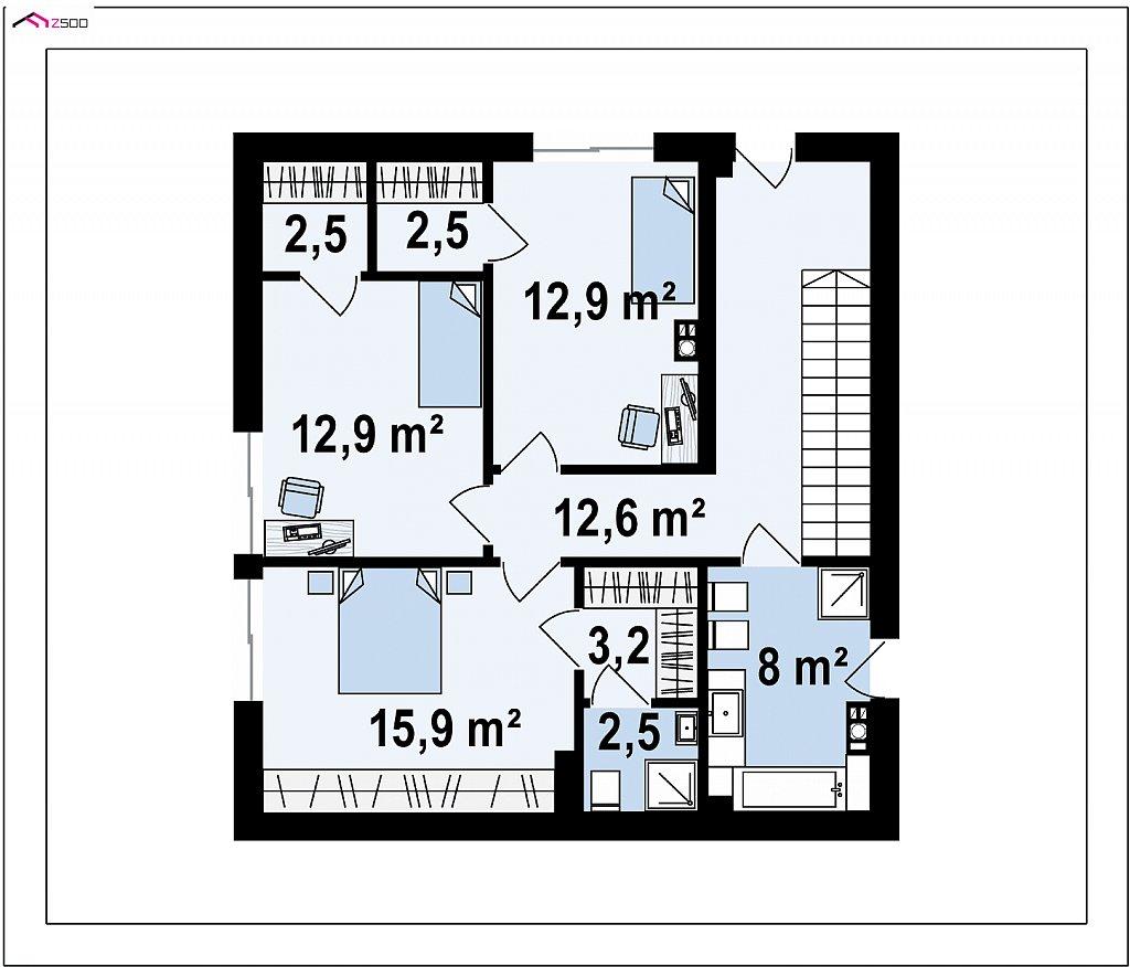 Дом в современном стиле с подвалом план помещений 3