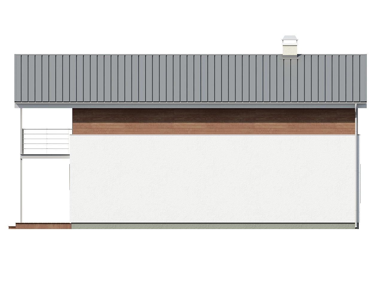 Проект двухэтажного дома для очень узкого участка. - фото 6
