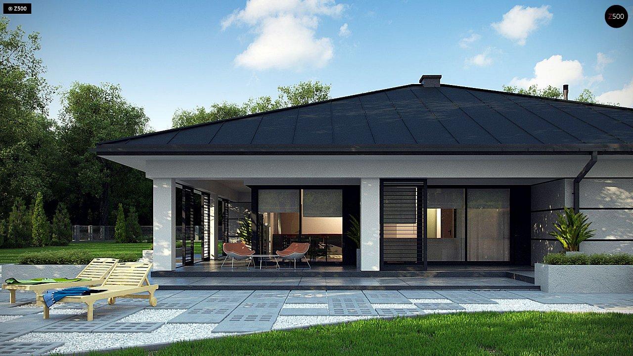 Проект одноэтажного дома с гаражом на две машины - фото 5