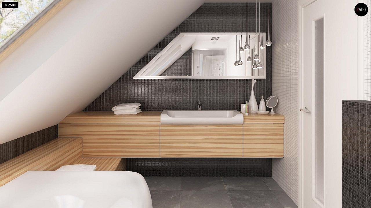 Выгодный и простой в строительстве дом с эркером в дневной зоне. 17