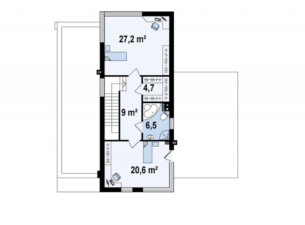Комфортабельный особняк в стиле модерн элегантного дизайна. план помещений 2