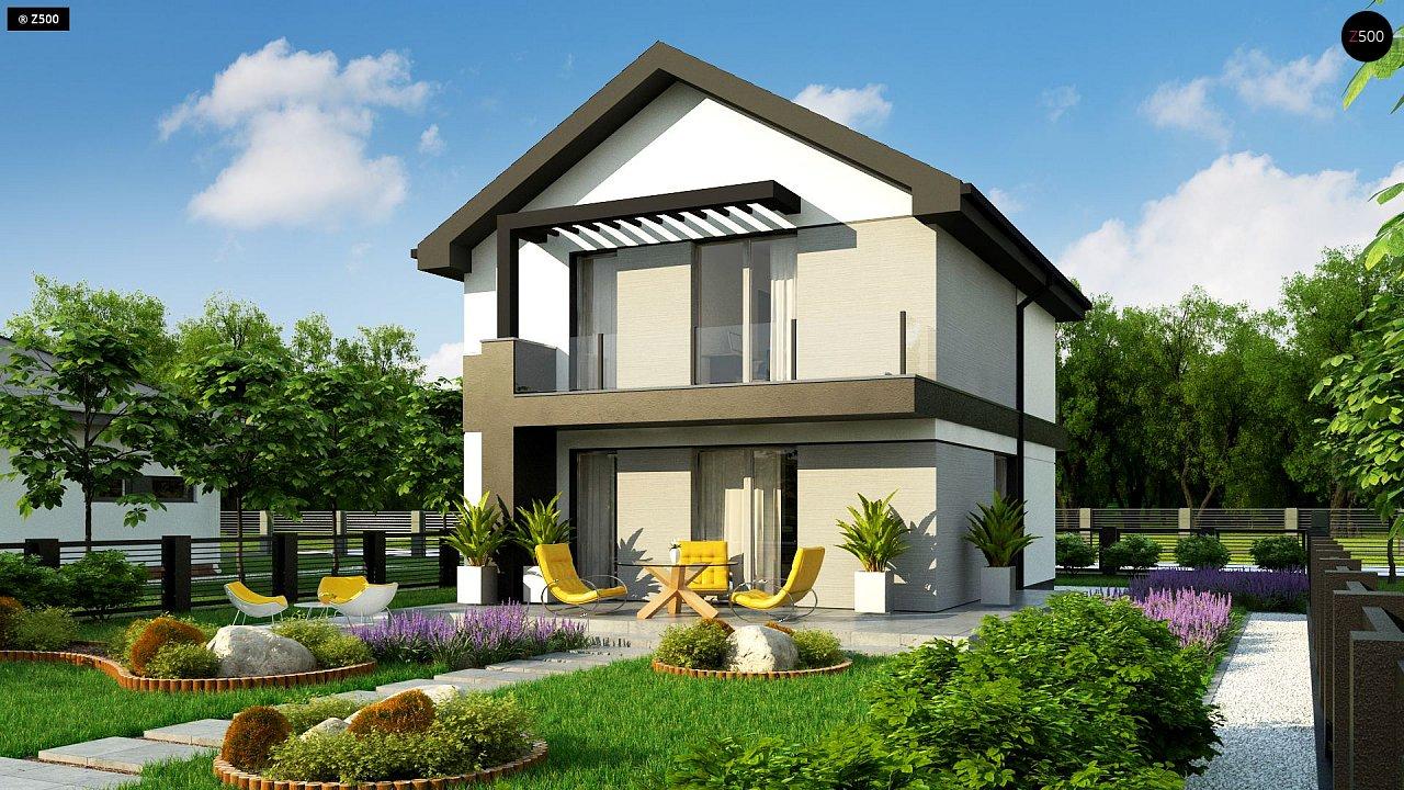 Компактный двухэтажный дом для узких участков. - фото 2