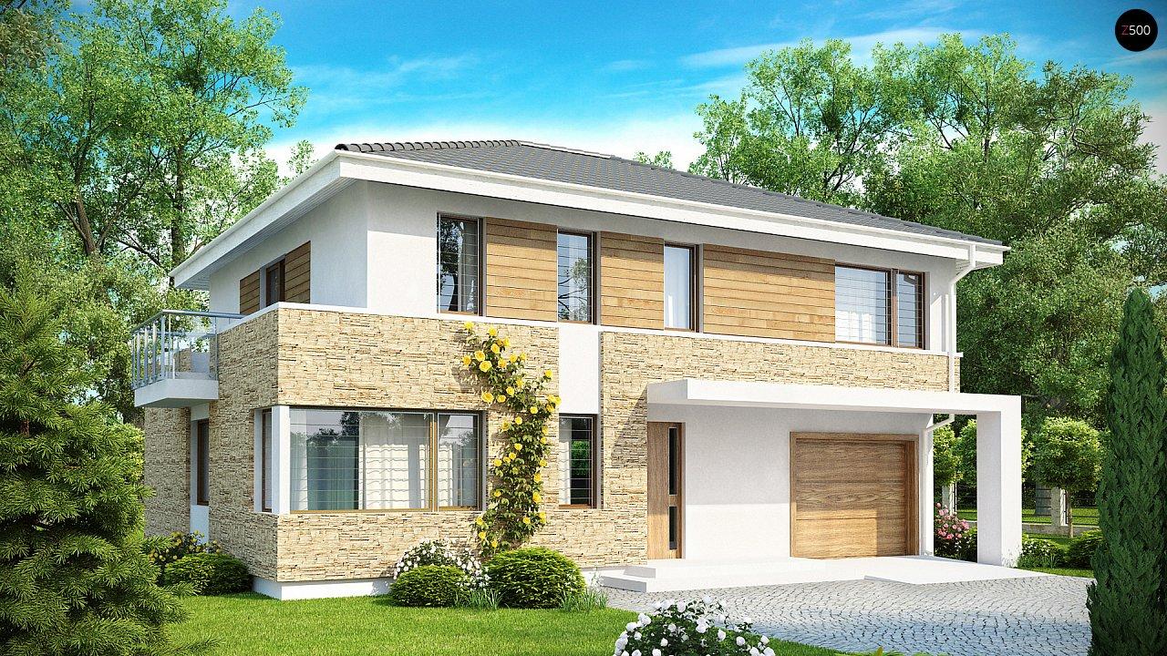 Просторный двухэтажный дом минималистичного современного дизайна. 1