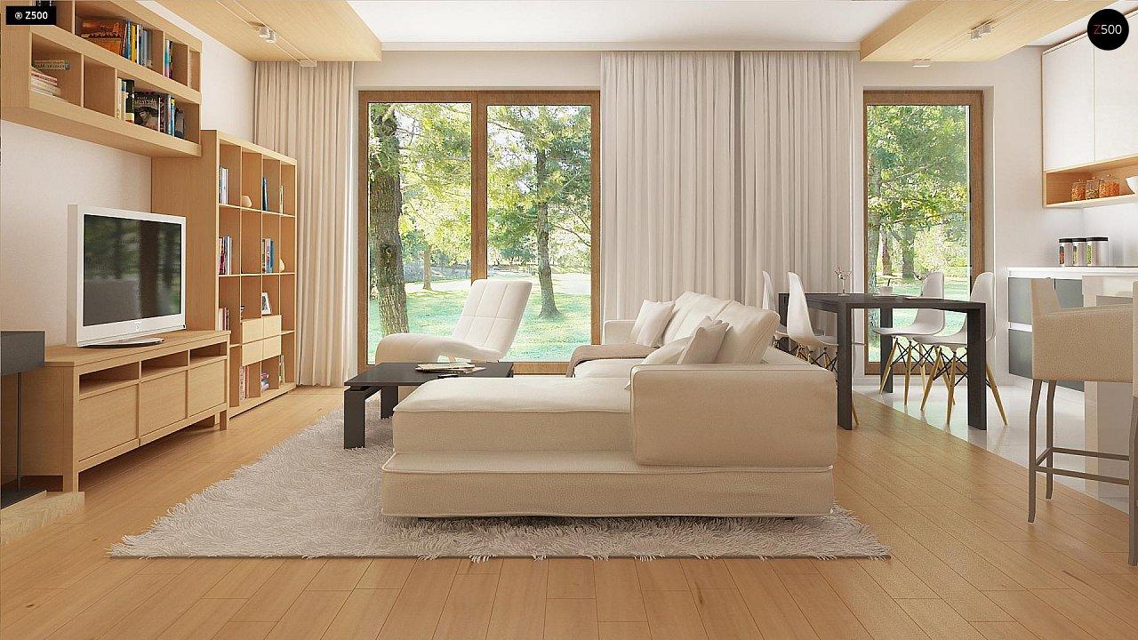 Новый вариант проекта Z38 - уютного двухэтажного дома. 3