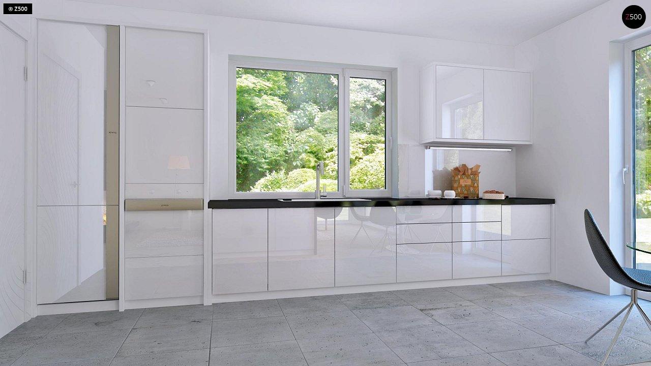 Проект компактного двухэтажного дома строгого современного стиля. 8