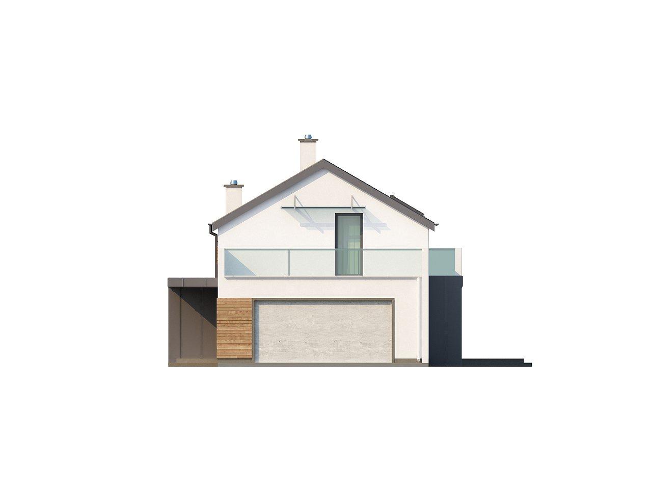 Дом современного простого дизайна. Продольная форма, уютный комфортный интерьер. - фото 16