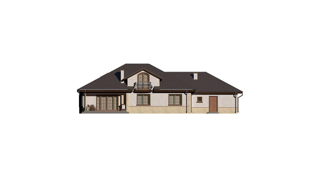 Версия проекта Z10 с гаражом с левой стороны, мансардой и балконом. 21