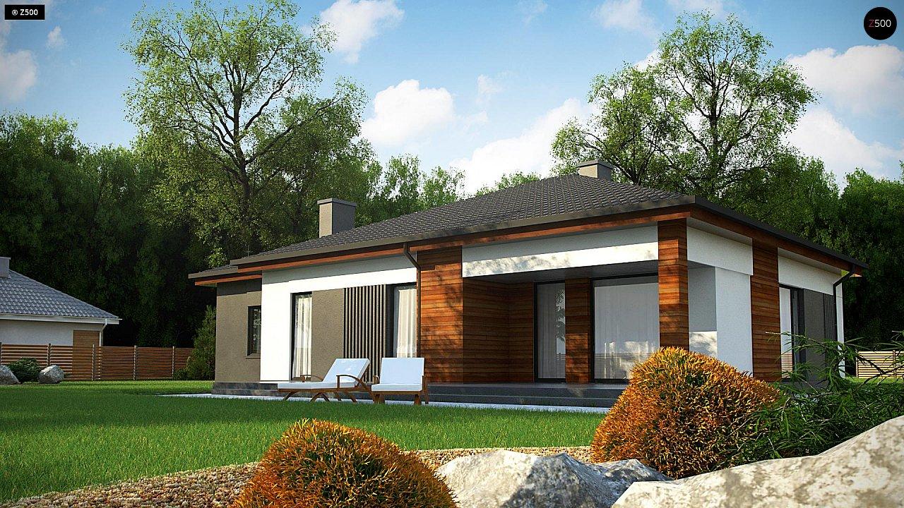 Удобный одноэтажный дом небольшой площади 6
