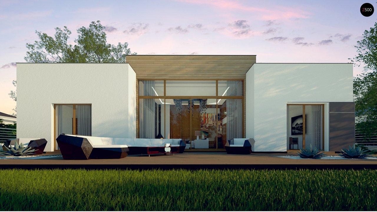 Одноэтажный дом в стиле современного минимализма 6