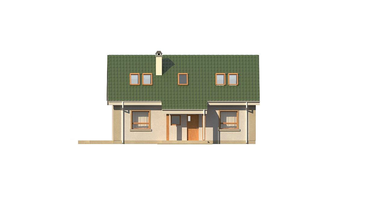 Компактный дом с мансардой и большой террасой на первом этаже 17