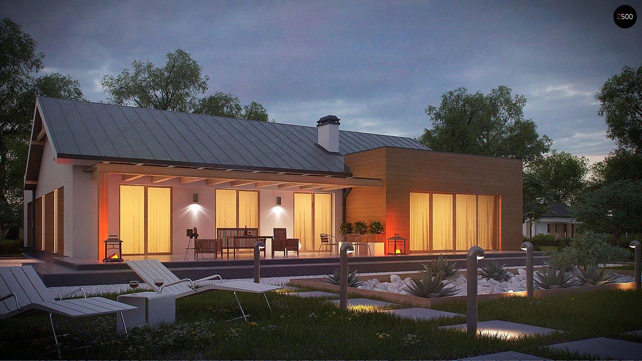 Комфортный функциональный одноэтажный дом простой формы и с гаражом для двух авто. 7