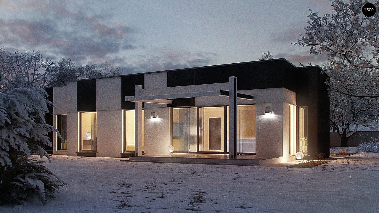 Одноэтажный комфортный дом в стиле хай-тек. 4