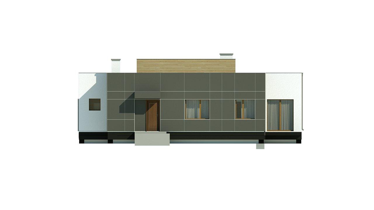 Одноэтажный дом в стиле современного минимализма 10