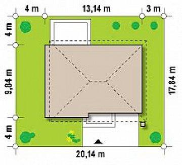 Двухэтажный современный дом под сейсмику план помещений 1