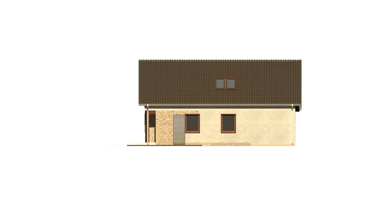 Версия проекта дома Z71 с гаражом, пристроенным слева. 15