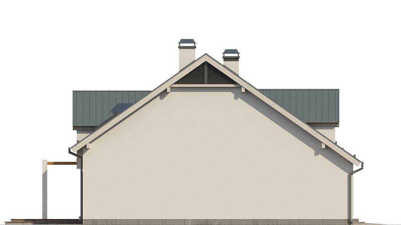 Дом традиционной формы с элегантными современными элементами в архитектуре. - фото 6